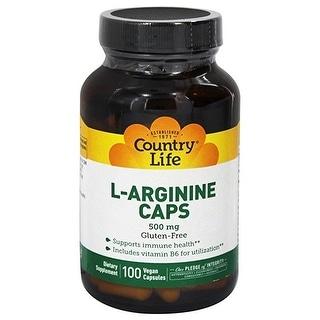 Country Life Vitamins - ARGININE 500 MG 100  Vegicaps