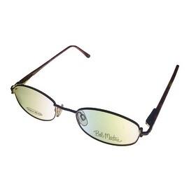 Bob Mackie Womens Eyeglass Opthamlic Oval Gold Metal #131 Gold Brown