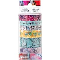 Dina Wakley Media Washi Tape-#1-6 Rolls