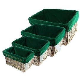 Gold Willow Basket Set with Liners by Lukasian House