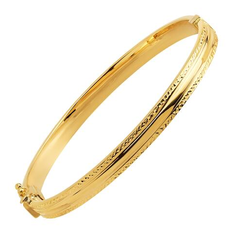 Diamond-Cut Bangle Bracelet in 14K Gold - Yellow