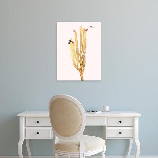 Easy Art Prints Andreas Lie's 'Golden Cactus 2' Premium Canvas Art