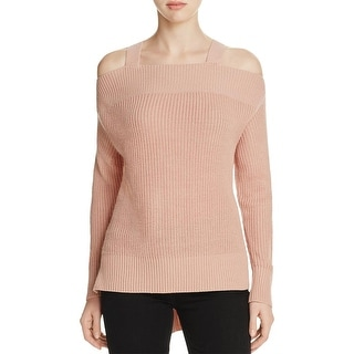 Sanctuary Womens Pullover Sweater Knit Open Shoulder