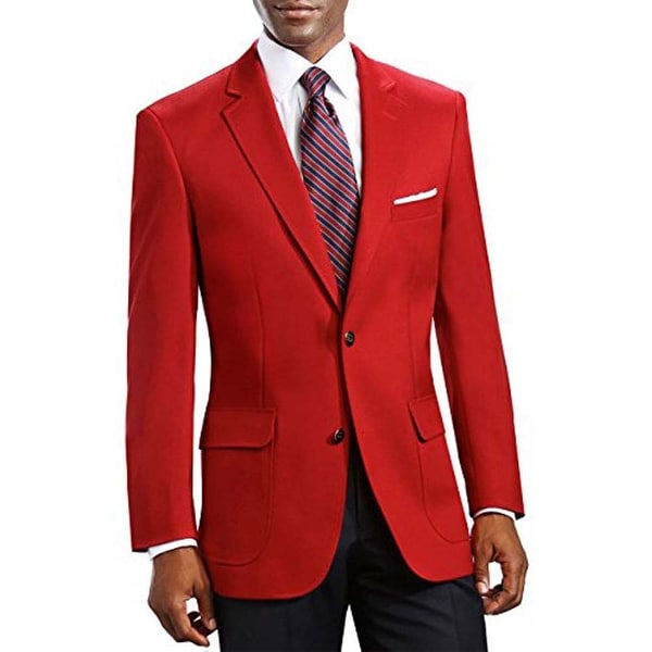 848f78ff8 Men's Elegant Classic 2 Button Blazer Sport Jacket in Red