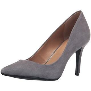 Calvin Klein Womens Gayle Pumps Suede Pointed Toe - 10 medium (b,m)