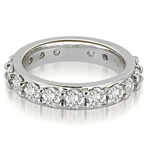 3.40 cttw. 14K White Gold Round Diamond Eternity Ring
