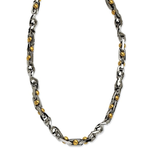 Chisel Stainless Steel IPG 24k Plating Plated 20 Inch Necklace (6 mm) - 20 in