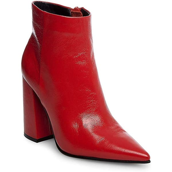 acortar Obligar Mar  Steve Madden Women's Justify Ankle Boot, Red Leather, 5 M - Overstock -  29829333