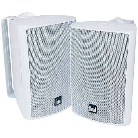 Dual Indoor Outdoor 3 Way Speakers White