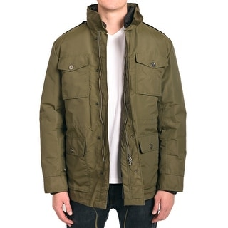 "Valentino Men Hooded Parka Jacket Green ""V"" Checker pattern"