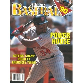Kirby Puckett unsigned Minnesota Twins Athlon Sports 1990 MLB Baseball  Preview Magazine