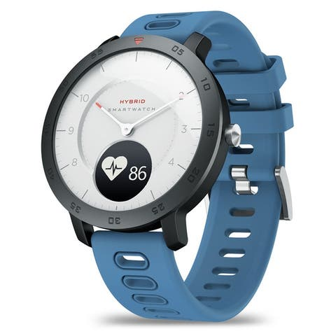 Zeblaze HYBRID Heart Rate Blood Pressure Monitor Real-time Weather Temperature Goal Reminders Dual Modes Mechanical Smart Watch