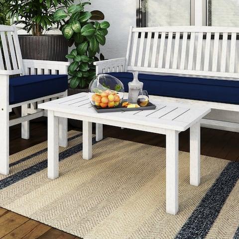 CorLiving Miramar Whitewashed Hardwood Outdoor Coffee Table