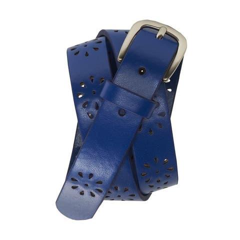 Aeropostale Womens Perforated Skinny Belt