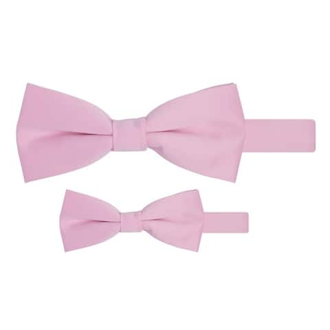 Jacob Alexander Matching Father Son Men's Boy's Bow Tie Set - One Size