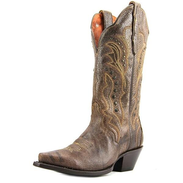 Dan Post DP3446 Women Square Toe Leather Brown Western Boot