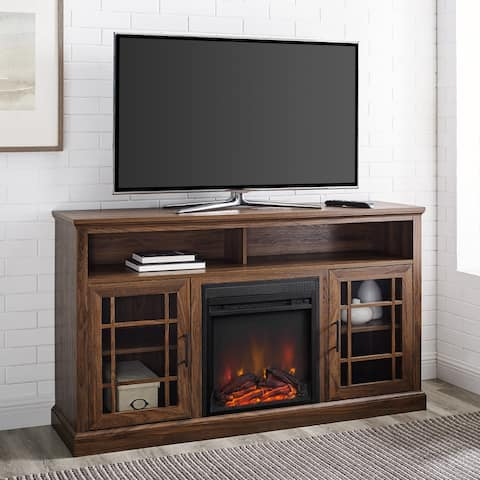 Copper Grove 58-inch Glass Door Fireplace TV Console