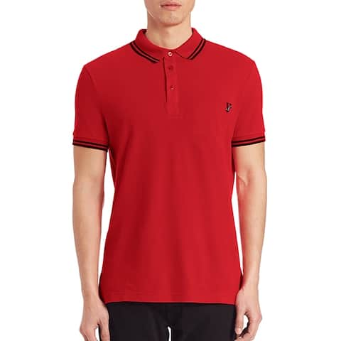 Versace Jeans Red Pique Logo Polo Tshirt