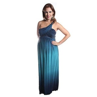 Love My Belly Blue Maternity Formal Party Gown Dress Womens S-L
