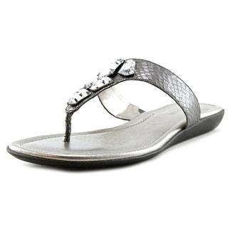 Bandolino Jesane Women Open Toe Canvas Gray Thong Sandal