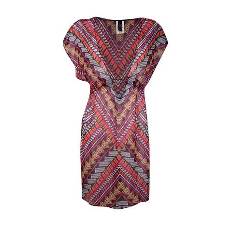 Becca by Rebecca Virtue Women's Beaded Center Coverup