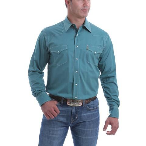 Cinch Western Shirt Mens Long Sleeve Marble Snap Print Teal