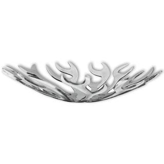 vidaXL Fruit Basket Flame Shape Aluminum Silver