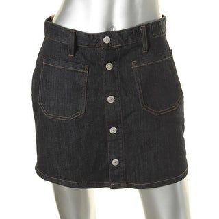 Denim & Supply Ralph Lauren Womens Mini Skirt Dark Wash Denim