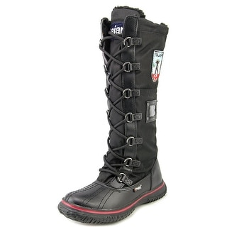Pajar Tyson Youth Round Toe Synthetic Black Snow Boot