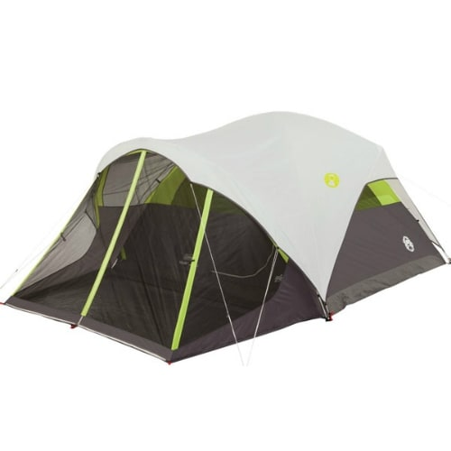 Coleman Steel Creek Screened 6 Person Tent Pitch Screened Dome Tent 6 Person