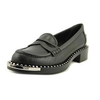 Miu Miu Vit Montana Round Toe Leather Loafer