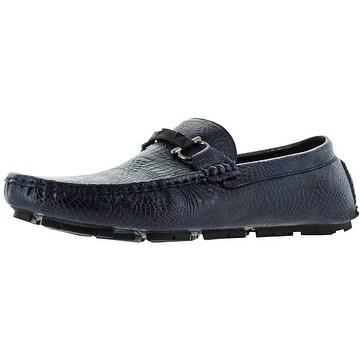 Moda Essentials Men's Designer Driving Loafers Shoes Moccasins Croc Crocodile
