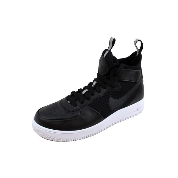 Nike Women's Air Force 1 Ultraforce Mid Black/Black-White 864025-001 Size 11