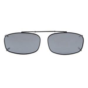 "Eyekepper Metal Frame Rim Polarized Lens Clip On Sunglasses 2""x1 1/4"" Grey Lens"