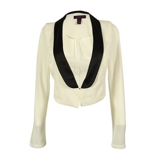 Material Girl Juniors' Cropped Tuxedo Jacket - Cloud