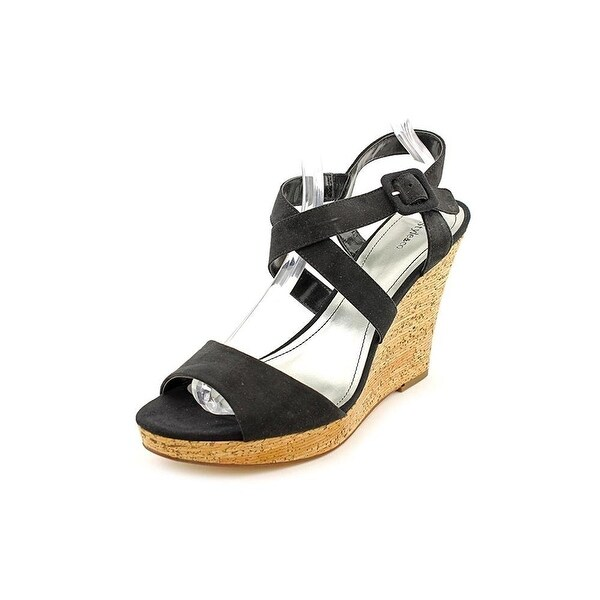 Style & Co. Womens ALLEXUS Leather Open Toe Casual Platform Sandals