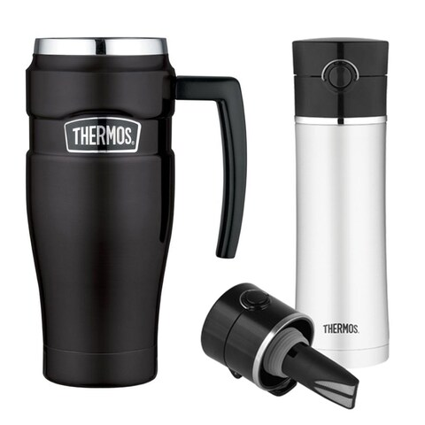 Thermos Stainless King 16oz Travel Mug & 16oz Drink Bottle with Tea Infuser
