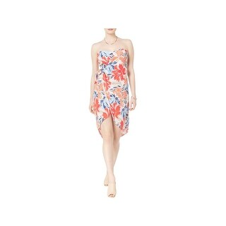 ASTR Womens Josefina Sundress Strapless Floral Print