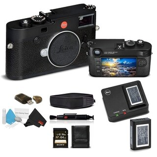 Leica M10 Digital Rangefinder Camera (Black) With Sony 64GB Memory Card Bundle