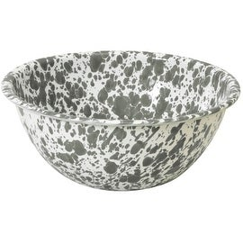 "Crow Canyon D18GYM Serving Bowl, 8"" Diameter, Grey Marble"