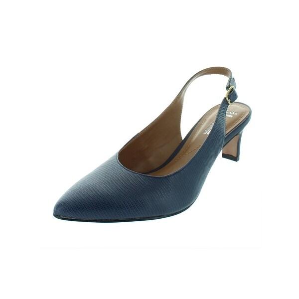 2b648c0da13 Clarks Womens Crewso Riley Slingback Heels Leather Pointed Toe - 7.5 medium  (b