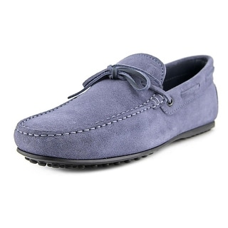 Tod's Laccetto City Gommino Youth N Moc Toe Suede Blue Loafer