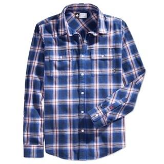 LRG NEW Blue Mens Size 2XL Pocket Button Down Plaid Flannel Shirt