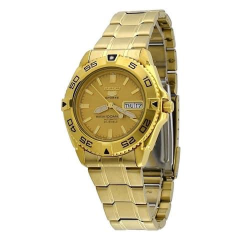 Seiko Men's SNZB26J1 'Seiko 5' Gold-Tone Stainless Steel Watch