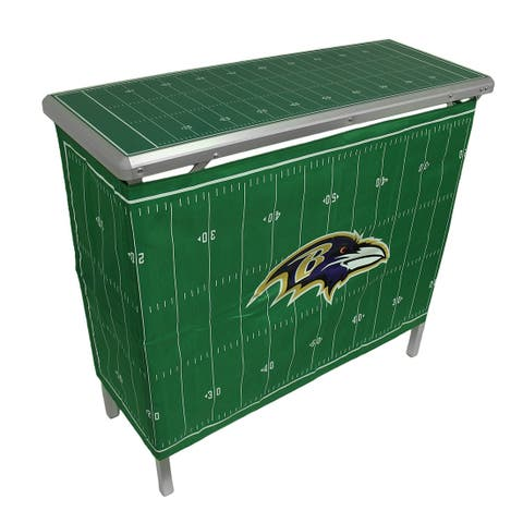 98b39f26986 NFL Baltimore Ravens Folding Aluminum Tailgate Table w/Skirt - Green - 36 X  39