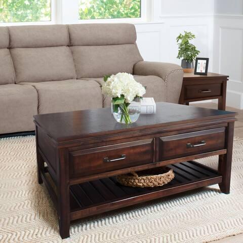 Abbyson Larson Wood Coffee Table