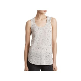 ATM Womens Donegal Tank Top Sweater Cashmere Scoop Neck