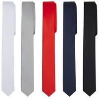 "Jacob Alexander Ultra Skinny 1.5"" Men's Solid Necktie - One Size"