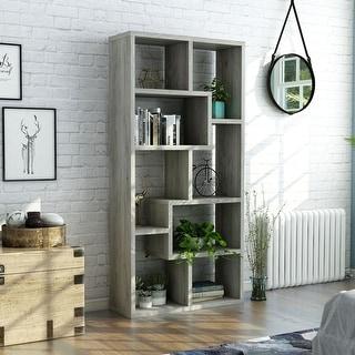 Ramses Modern Grey Bookcase Display Cabinet