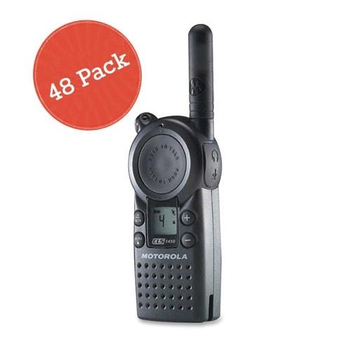 """Motorola CLS1410 48 Pack 2-Way Radio / 5 Mile Range"""